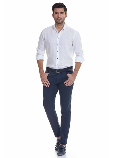 Hemington Slim Fit Dar Paça Denim Pantolon Lacivert